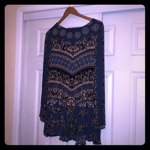 Free people blue tunic/dress
